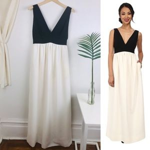Jill Stuart Two Tone Black & White Evening Gown